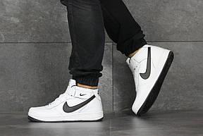 Высокие подростковые,женские кроссовки Nike Air Force,белые с черным 40,41р, фото 3