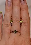 Серьги серебряные с накладками золота, фото 3