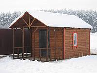 Деревянный летний домик 6х3