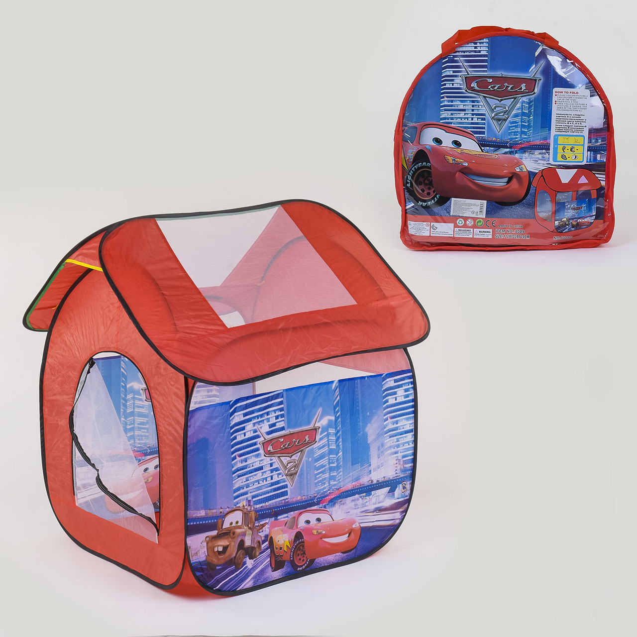 Детская палатка игровая Машинки 8009 С 112х102х114 см в сумке Гарантия качества Быстрая доставка