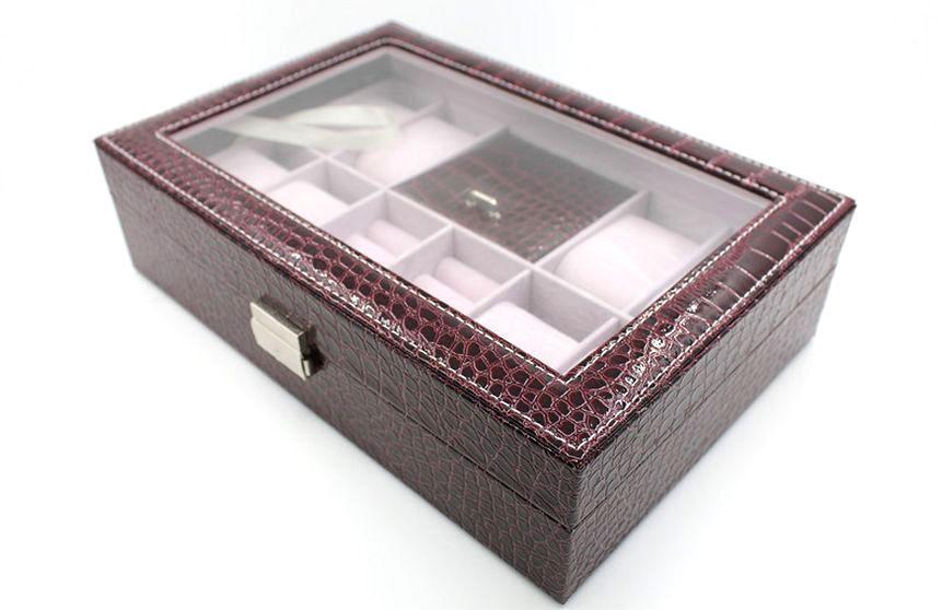 Шкатулка для хранения часов Craft 8WJ.PU.CR.RD