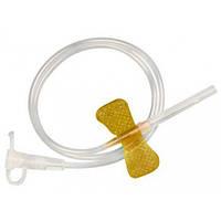 Катетер внутривенный бабочка 20G (0,5*19 мм) Alexpharm Желтый