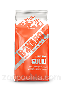 Сухий корм BAVARO adult 20/8 Solid повноцінний корм для дорослих собак 18кг