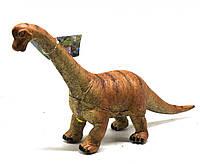 Динозавр резиновый Брахиозавр, большой, со звуком (красный)