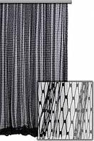 Тюль сетка крупная ромбовидная, цвет серый