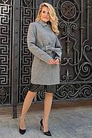 Стильное фабричное пальто до колена  Габриэлла 7823, фото 1