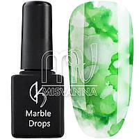 Акварельные капли Marble Drops М11, 5 мл салатовый