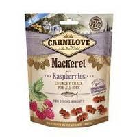 Лакомство Carnilove Dog Crunchy Snack скумбрия,малина для собак, 200 грм