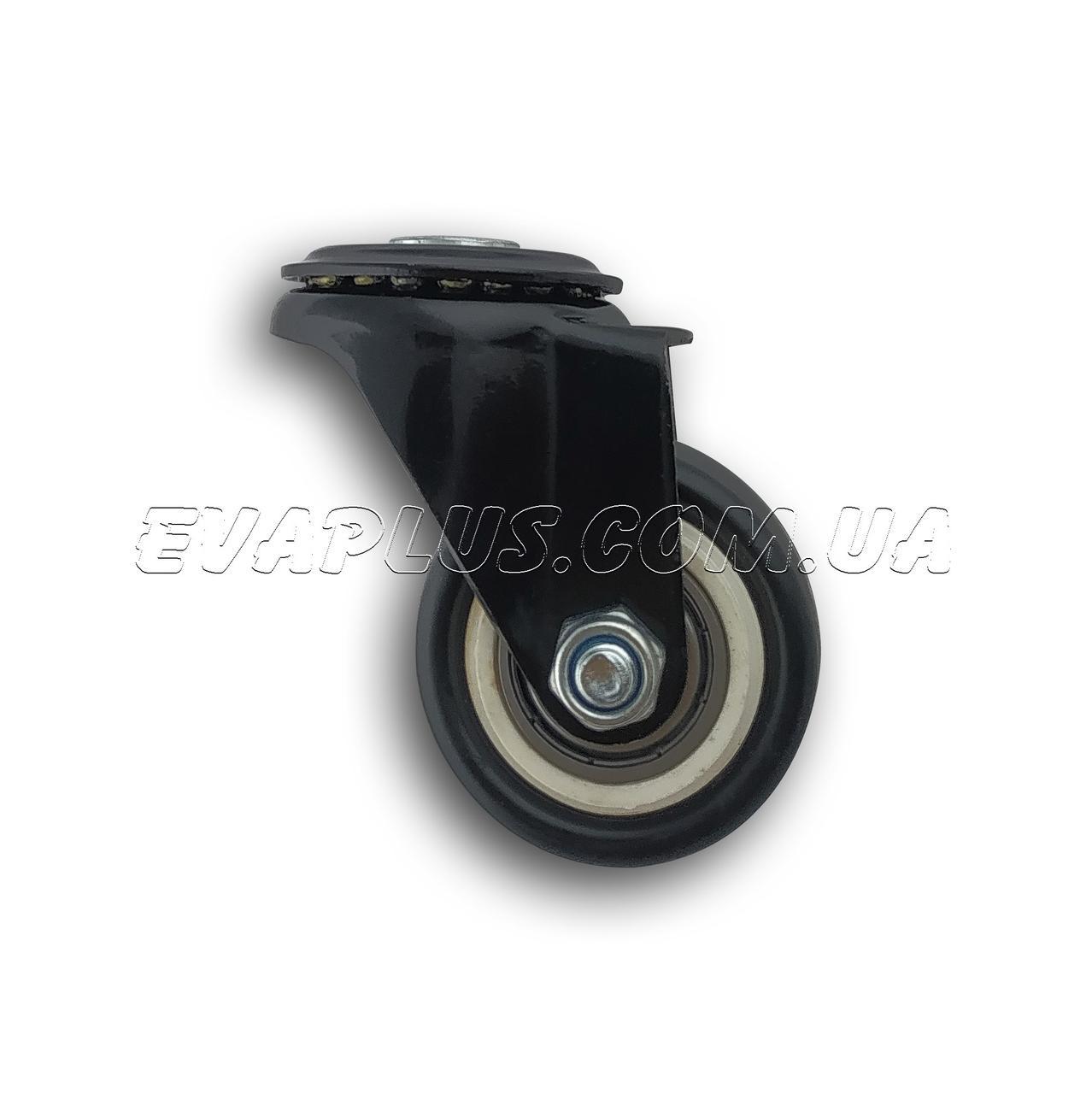 Поворотное колесо 41 мм в металлическом корпусе с отверстием