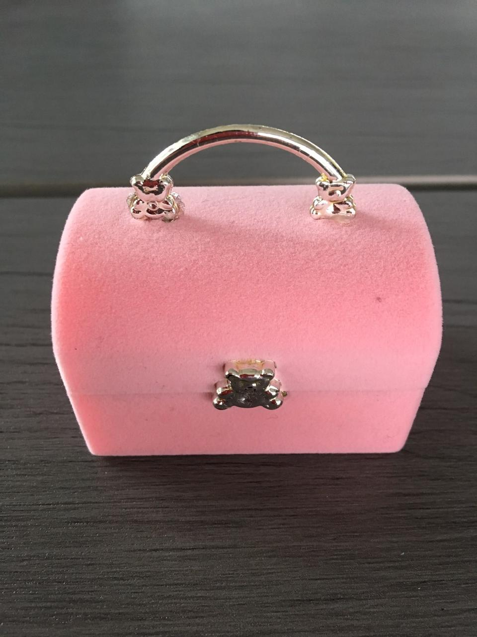 """Футляр для кольца """"Сундук розовый с мишкой"""