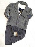 Детский нарядный костюм на мальчика (батник, брюки,пиджак) размер 68,80 Турция