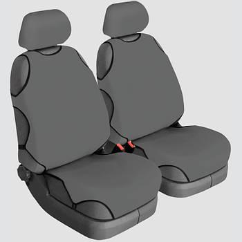 Авточехлы майки для передних сидений Beltex COTTON серые