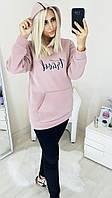 Женский стильный худи с капюшоном  МЭ264 (норма / бат), фото 1