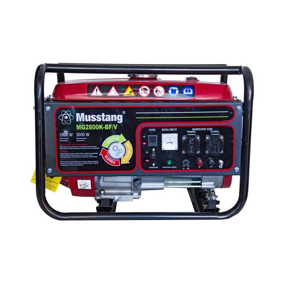 Генератор газобензиновый Musstang MG2800K-BF/V (3 кВт)