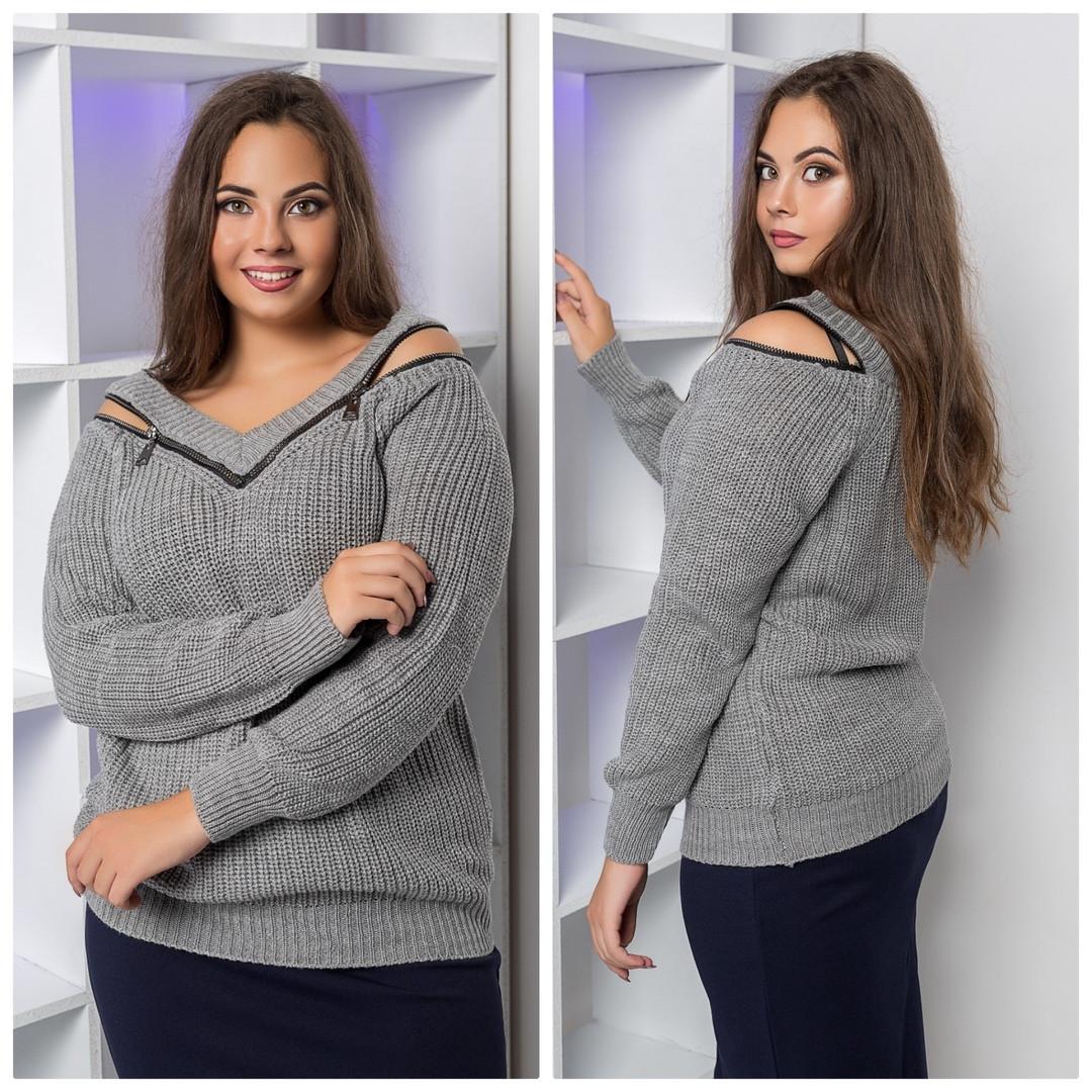"""Женский стильный свитер """" змейка """"  ОП8009"""