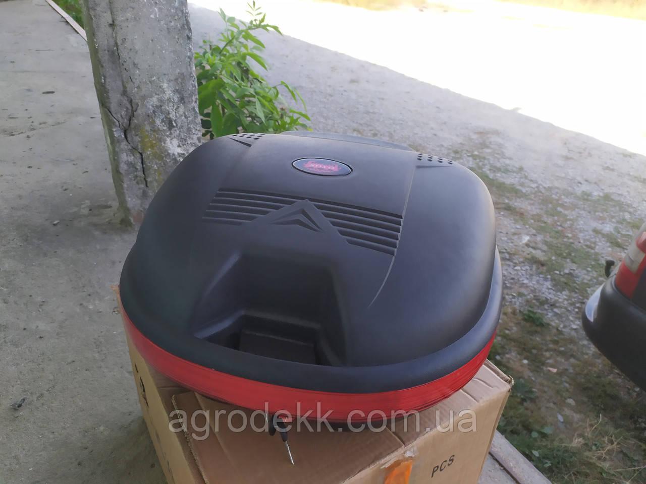 Кофр черный матовый со спинкой на один шлем