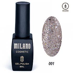 Гель лак Milano Shine collection -001