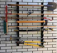 Полка металлическая для садового инструмента на 6 ед.