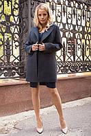 Прямое демисезонное кашемировое пальто Вива 7865, фото 1