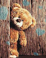 Картина по номерам Тедди в коробке, 40*50 см