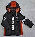 Детская демисезонная куртка для мальчика Fashion Boys коричневая (Grace, Венгрия), фото 6