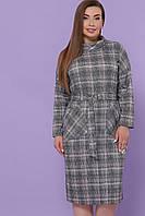 Платье ниже колен в клетку больших размеров