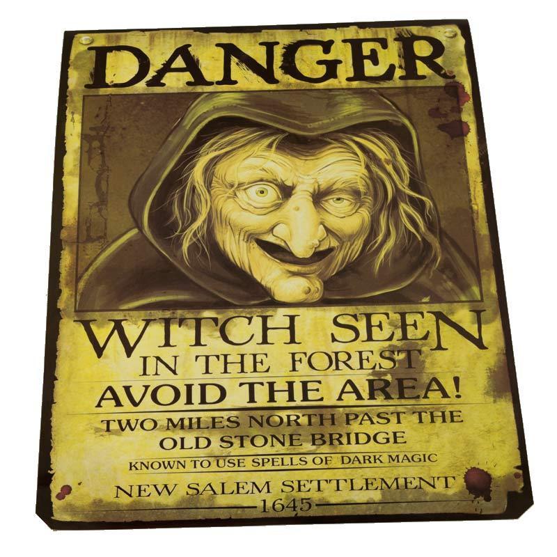 """Постер - банер """"Обережно. Відьма"""" на Хелловін, Постер """"Опасность. Ведьма"""" на хэллоуин"""