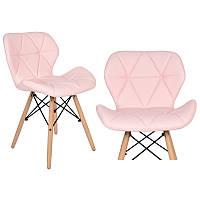 Набор из 4 стульев для кухни и бара SKY74 розовый (9056-4)