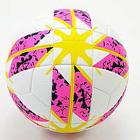 Футбольный Мяч №5 PVC ARGENTUM 2018-2019 (белый-желтый-розовый), фото 1
