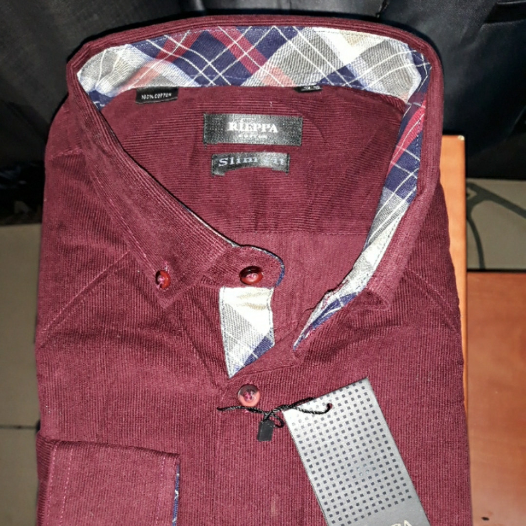 Рубашка мужская Rieppa SKY-1261 микровельвет