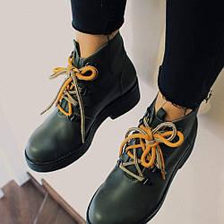 Стильные кожанные ботинки ручной работы VZHENEBOSI