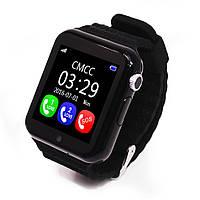 Умные Смарт-часы UWatch Smart V7K с GPS трекером BLACK