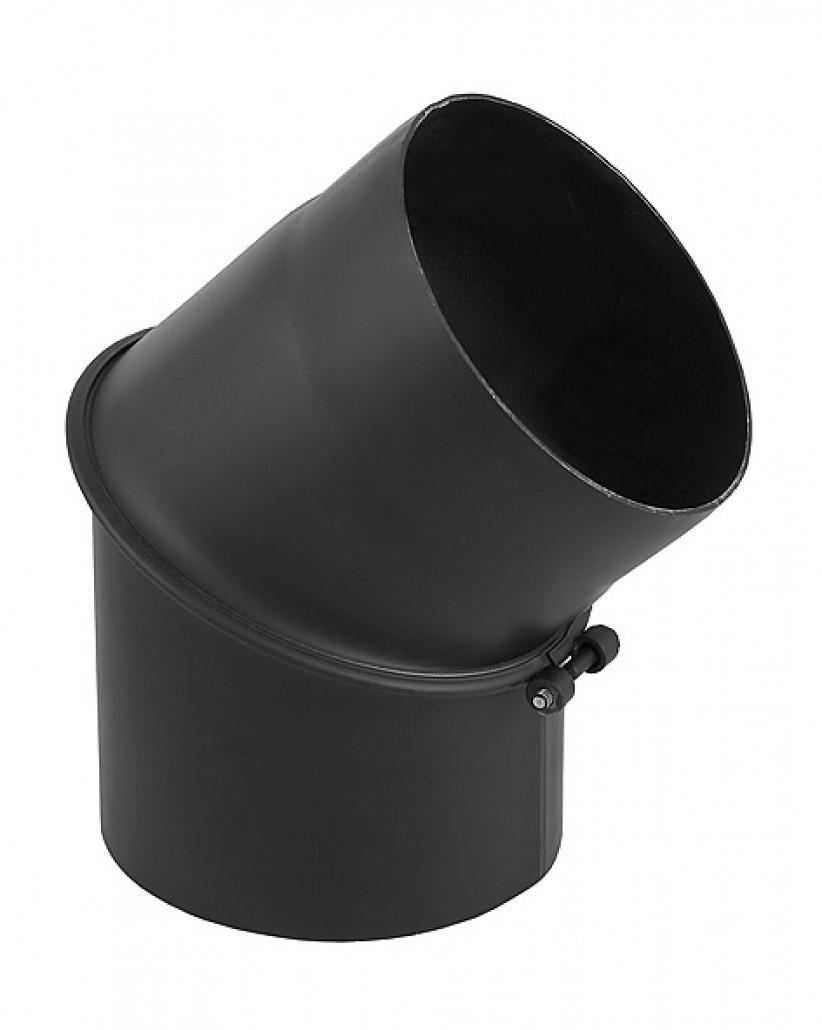 Регулируемое колено для дымохода DARCO 200/45 из стали черное