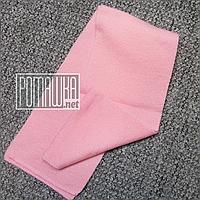 Детский вязаный шарф (шарфик) теплый  для девочки девочке на весну осень зиму 3917 Розовый