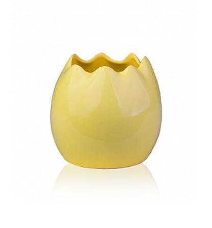 Ваза керамическая ETERNA (глянец белый, желтый, оранжевый 14*14*13 см) 1708-13