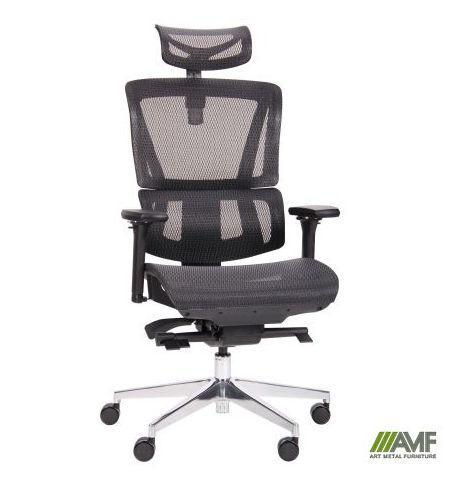 Кресло руководителя Аджаил (Agile Black Alum) (с доставкой)