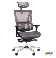 Кресло руководителя Аджаил (Agile Black Alum) (с доставкой), фото 3