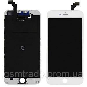 Дисплей iPhone 6 Plus, белый, с рамкой, с сенсорным экраном, Original Pass
