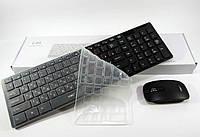 Беспроводная клавиатура с мышкой для ПК, компьютера, ноутбука UKC k06 + силиконовая накладка