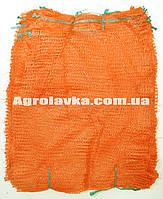 Сетка овощная 30х47 (до 10кг) с ручкой оранжевая (цена за 100шт), сетка овощная оранжевая