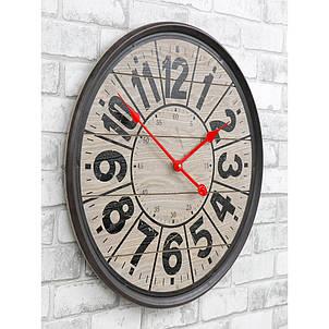 Часы настенные деревянные в стиле ретро  -   Compass Wooden 57 сm, фото 2
