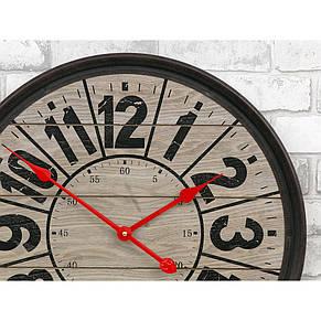 Часы настенные деревянные в стиле ретро  -   Compass Wooden 57 сm, фото 3