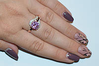 Серебряное кольцо с накладками из золота, фото 1