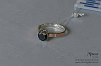 Серебряное кольцо с золотыми накладками, фото 1