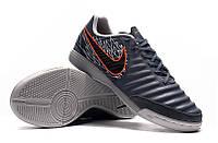 Футзалки (бампы) Nike Tiempo Legend VII Academy IC Armory Blue/Black/Hyper Crimson, фото 1