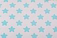 Сатин (хлопковая ткань) мятные  звезды (пряники), фото 2