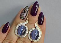 Серебряное кольцо с золотыми вставками, фото 1