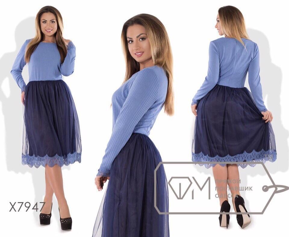 """Вечернее женское платье ткань """"мягкий Французский трикотаж""""  48, 50, 52, 54  размер батал 54"""