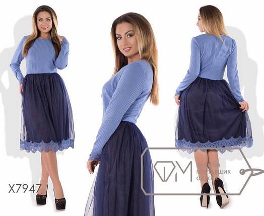 """Вечернее женское платье ткань """"мягкий Французский трикотаж""""  48, 50, 52, 54  размер батал 54, фото 2"""