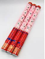 Пневматична хлопавка з рожевими ведмедиками 60см (8053-6) ціна за 1 шт